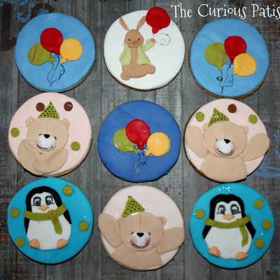 Cookies With Teddy Bears, Bunnies And Balloons