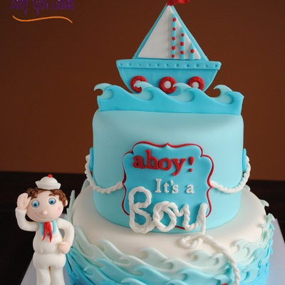 'ahoy! It's A Boy!' Nautical Baby Shower