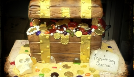 pirate treasure chest cake instructions
