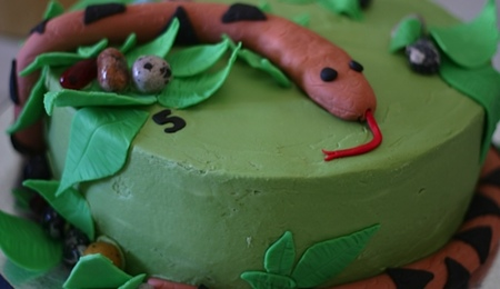 how to make a coiled snake cake