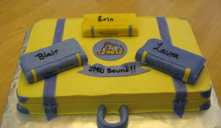 back to college suitcase cake cakecentral.com