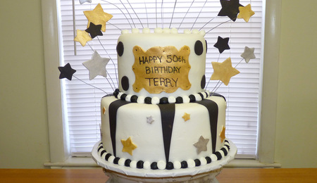 Black Silver And Gold 50th Birthday Cakecentral Com