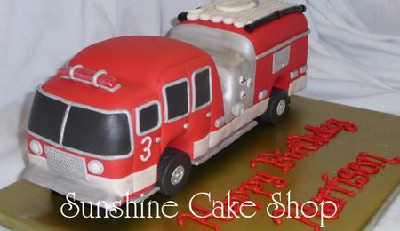 Fire Truck Birthday Cake Pan