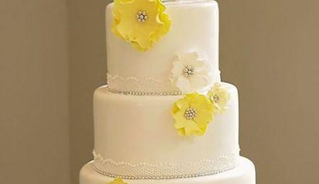 Rasberry Cream Wedding Cake
