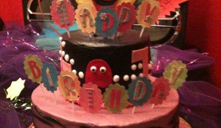 Ms Pacman 80s Themed Birthday Cake