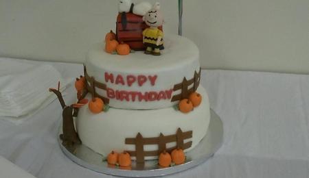Snoopy Birthday Cake CakeCentralcom
