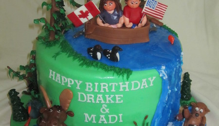 Muskoka Themed Birthday Cake