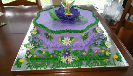 Two Tier Tinkerbell Cake - CakeCentral.com