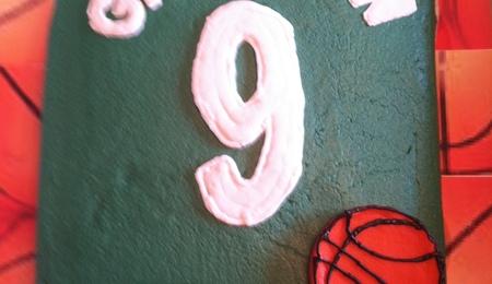 how to make a basketball court cake
