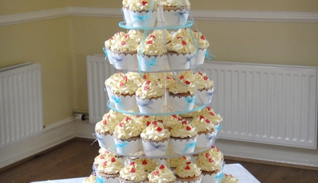 Ivory Ruffle Cupcake Tower - CakeCentral.com