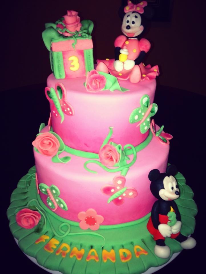Minnie Mouse Birthday Cake Decorating Photos
