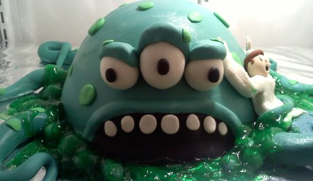 Monster Coming Out Of The Ground Cakecentral Com