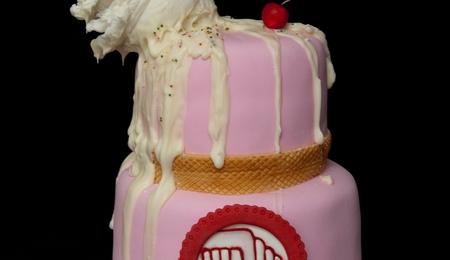 Melting Ice Cream Cone Cake For Boys And Girls Club
