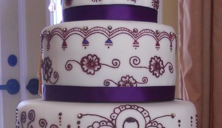 N Mehndi Cake : Ganesh henna cake cakecentral.com