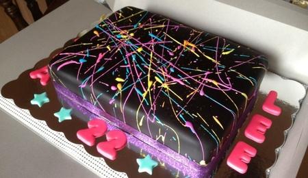 Surprising Royal Icing Paint Cake Decorating Photos Personalised Birthday Cards Sponlily Jamesorg