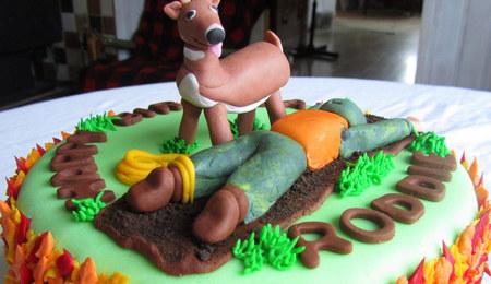 Deer Hunting Lawn Man CakeCentralcom