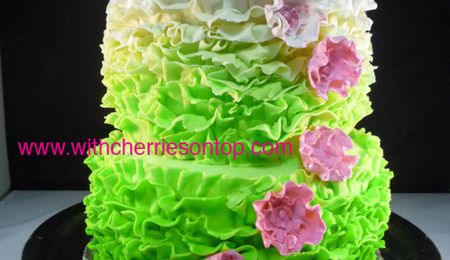 Marbled Mosaic Wedding Cake With A Fondant Window Won A ...