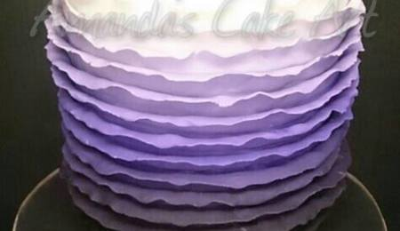 Purple Ombre Cupcake Tower - CakeCentral.com