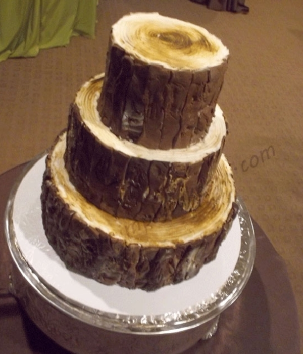 Log Wedding Cake