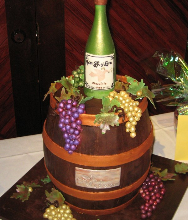Wine And Cheese Themed Cake