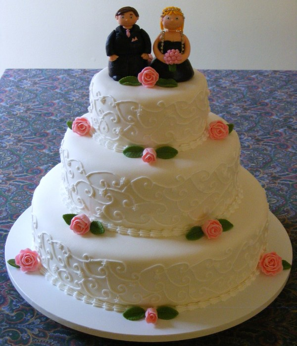 Wedding Vow Renewal/10Th Anniversary Cake