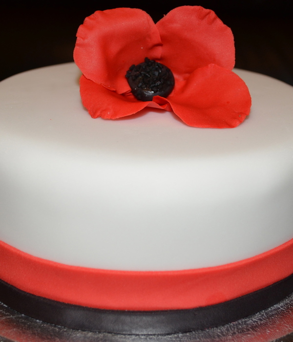 Remembrance/ Armistice Day Poppy Cake