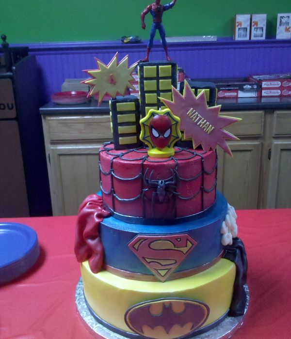 4 Year Old Superheroes Birthday Cake My Take On The