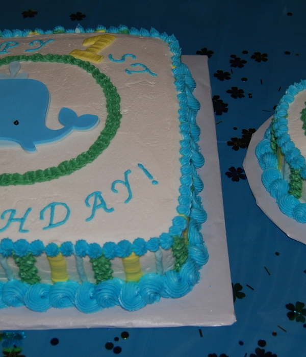 Whale And Seahorse First Birthday