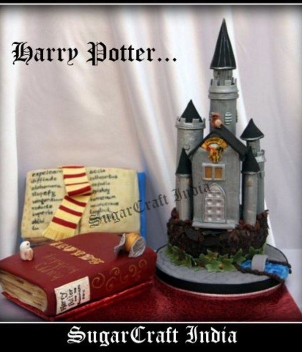 Harry Potter Castle Cake