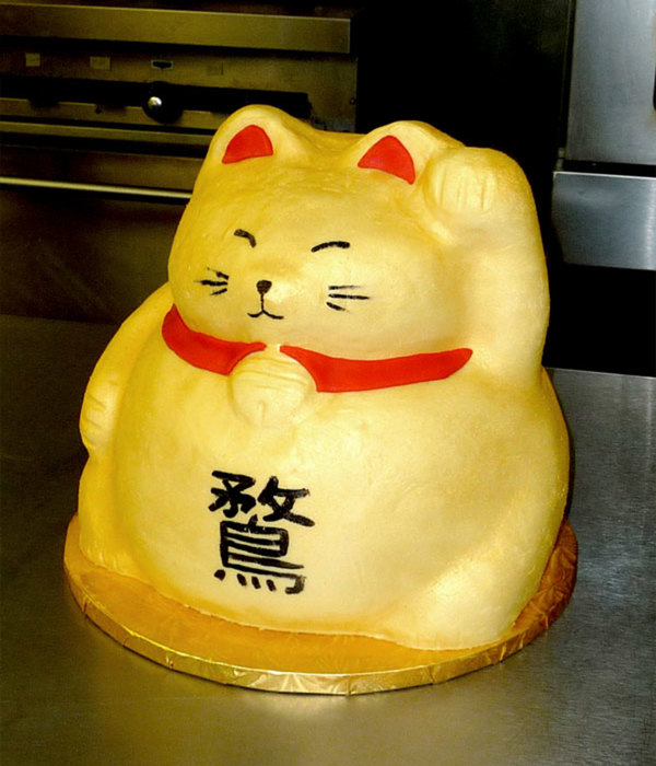Lucky Cat Groom's Cake