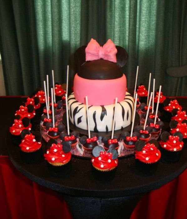 Mini Mouse Themed Cake Cupcakes And Cakepops