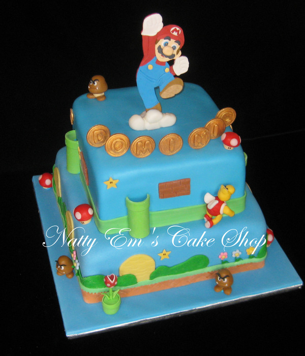 Birthday Cake For 6 Year Old Boy Mario Is Gumpaste And