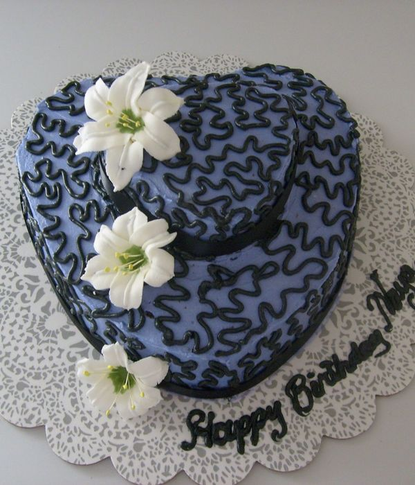 Made With Butter Cream Icing And Sugar Flowers