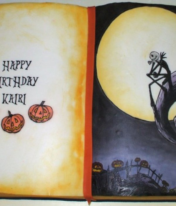 Kairi's Nightmare Before Christmas Book Cake