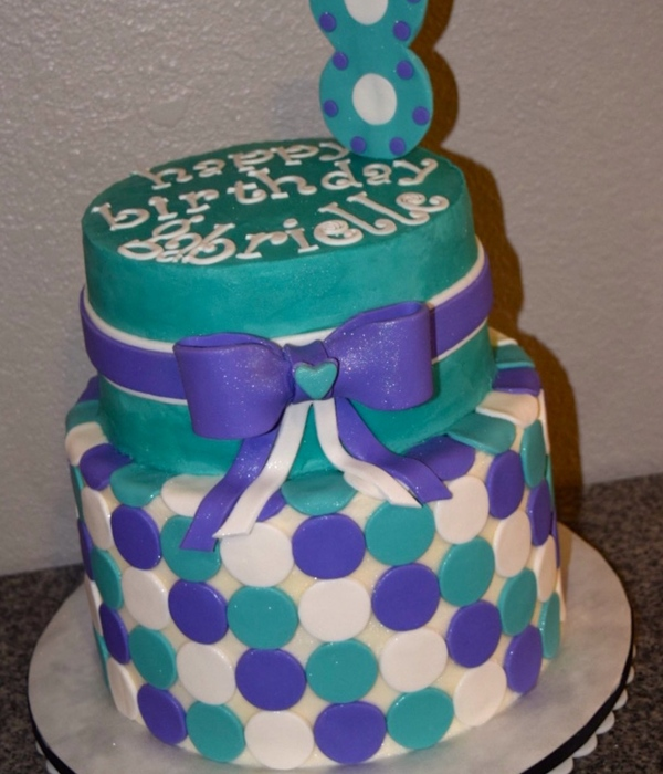 Polka Dot Birthday Cake