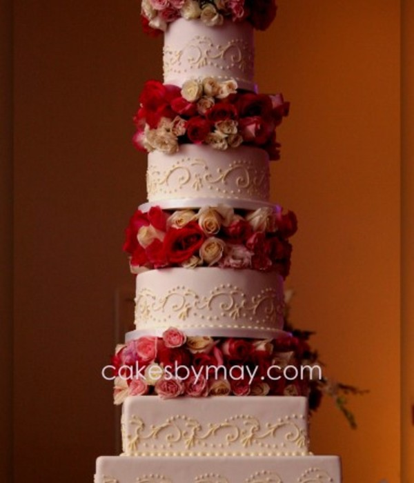 Romantic And Elegant 5 Tier Wedding Cake