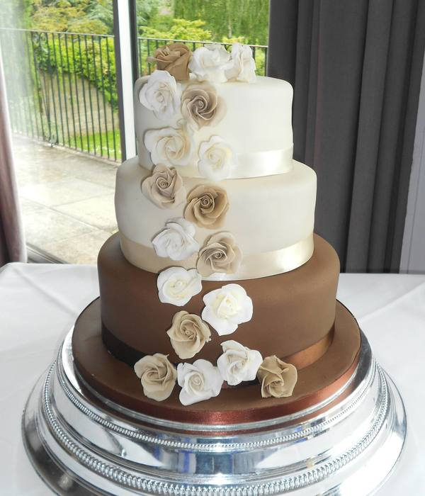 Chocolate And Coffee With Sugar Flowers