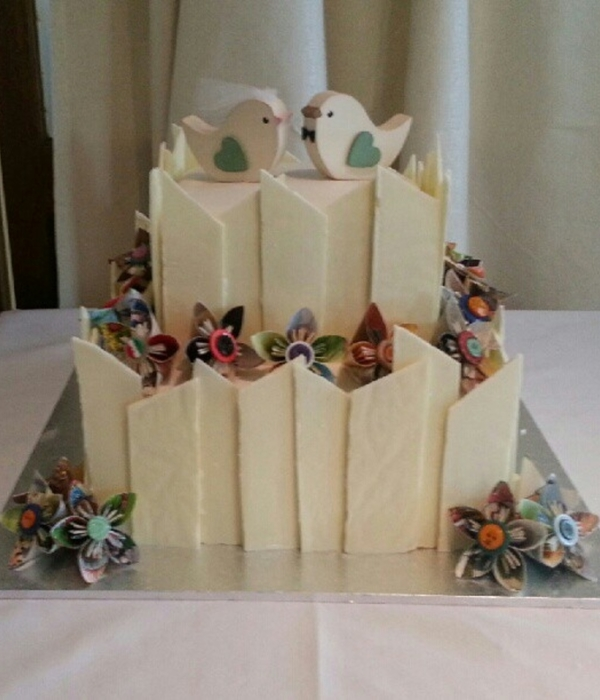 Origami Styled Wedding Cake