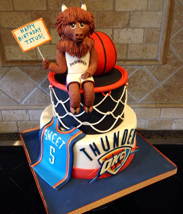 Thunder Up Okc Cake For 5 Year Old Boy Ball Is Rkt