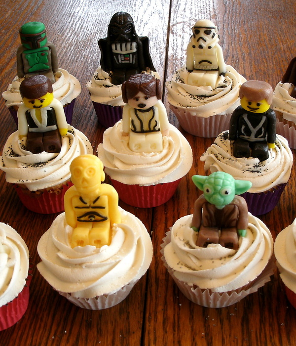 Lego Star Wars Candy Clay Cupcake Toppers