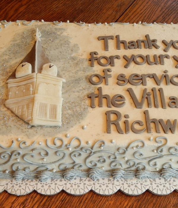 Richwood Mayor's Retirement Cake