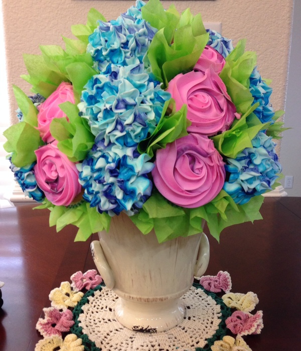 Cupcake Flower Bouquet For Mothers Day