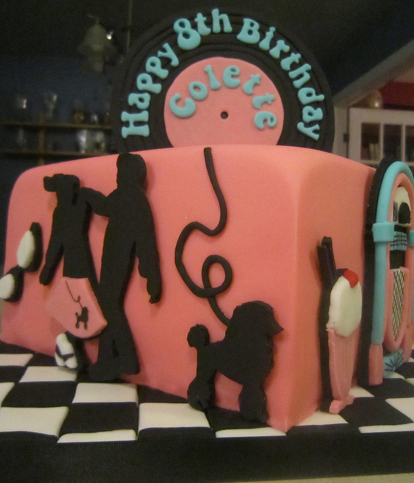 1950S Sock Hop Soda Shop Record Cake