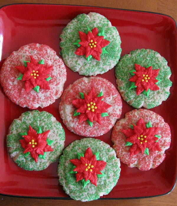 Poinsettia Cookies
