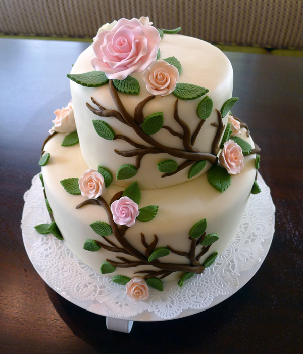 wedding cakes with vines and flowers top vines amp leaves cakes cakecentral 26133