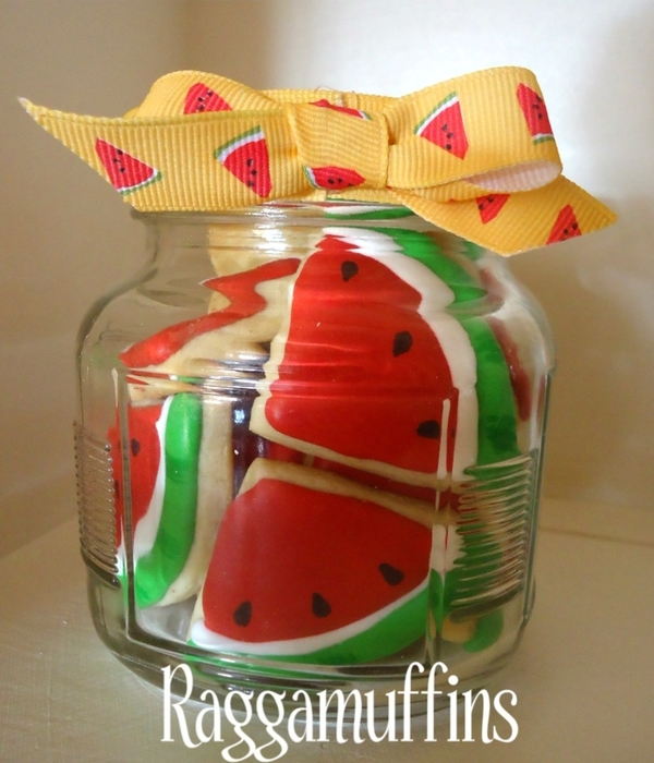 Watermelon Cookies In A Jar