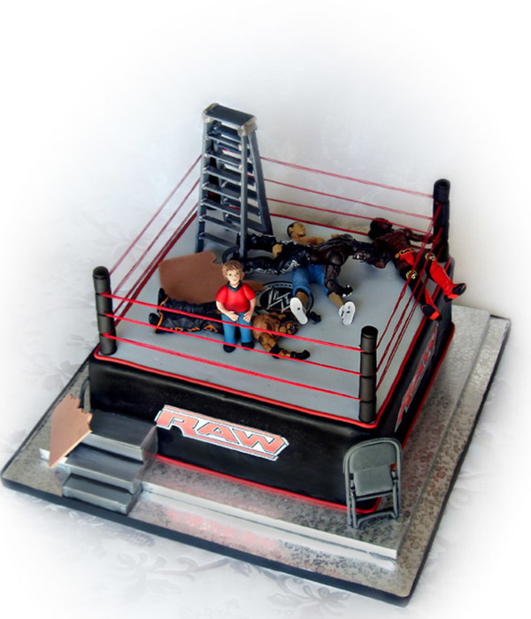 Wwe Wrestling Cake For A Little Boy