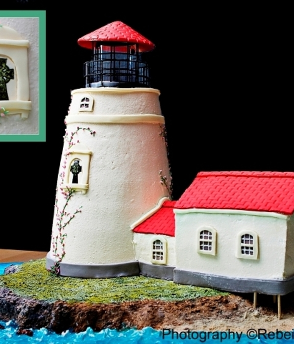 Heceta Beach Lighthouse Wedding Cake