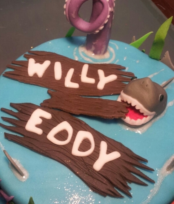 Shark Cake For Twins Turning 9