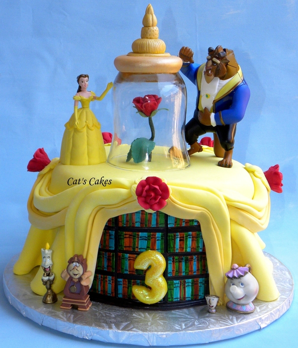 beauty and the beast birthday cake top disney princess cakes cakecentral 1619